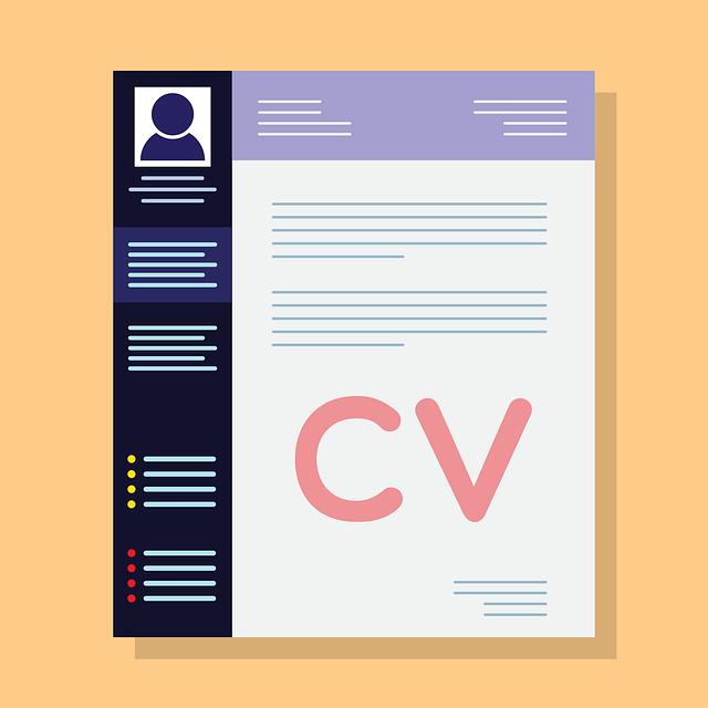 Image of a cartoon CV