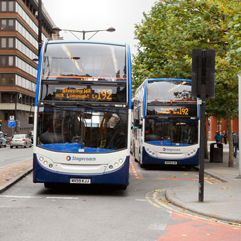 Buses at the bus station
