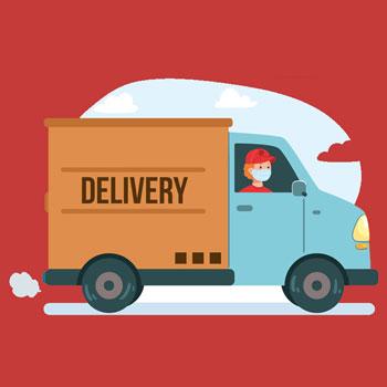 Delivery van graphic