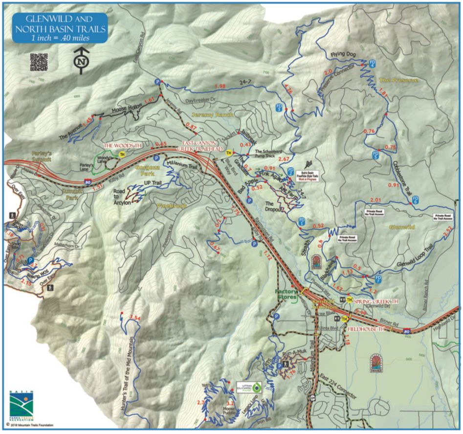 (pictured: Trail map)