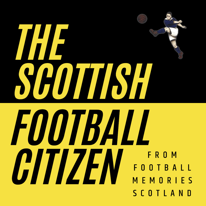 Logo for The Scottish Football Citizen, which includes the logo for Football Memories Scotland
