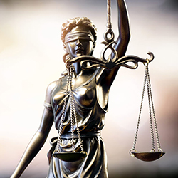 Statue of justice scales