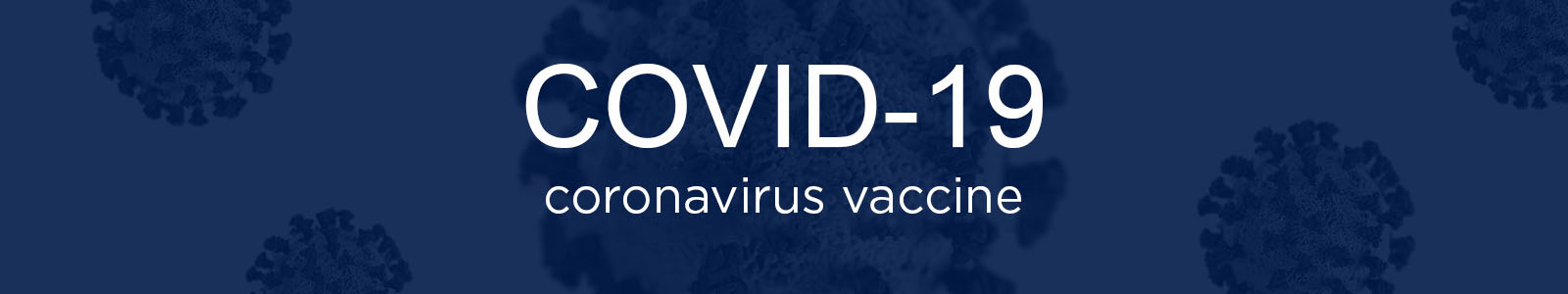 """The image reads """"COVID-19 coronavirus vaccine."""" This image is the website banner of the LFUCG vaccine webpage."""