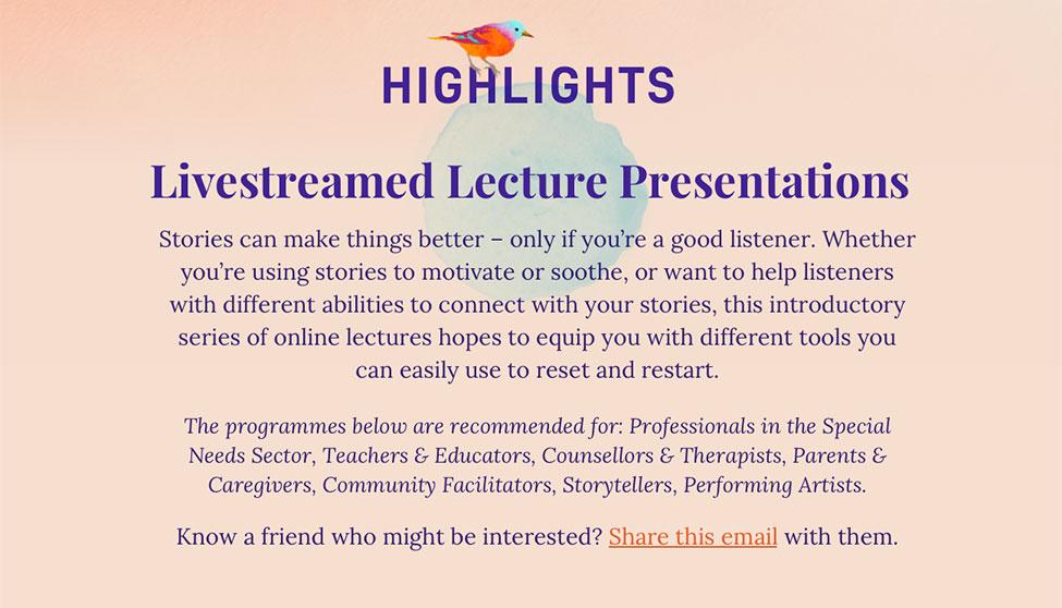 Livestreamed Lectures Presentations