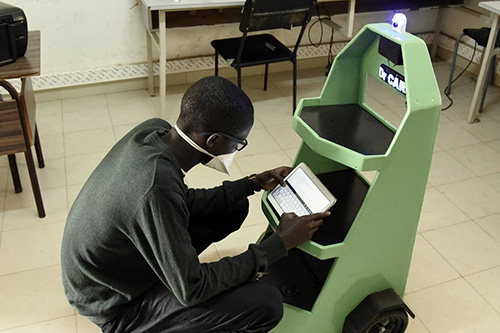 Senegalese youth employ robotics to reduce COVID-19 infection between patients and caregivers