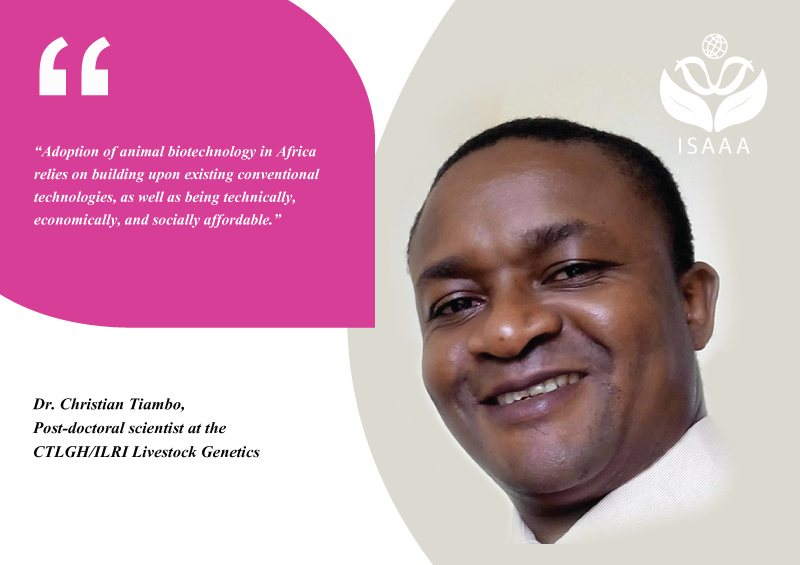 Dr. ChristianTiambo, a post-doctoral scientist at the CTLGH/ILRI Livestock Genetics
