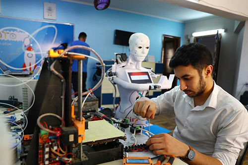 Mechatronic engineers in Egypt unveils a robot for diagnosing infection and post-infection medical care related to COVID-19