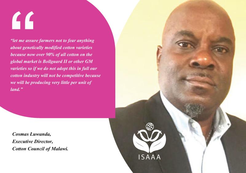 Cosmas Luwanda, Executive Director of the Cotton Council of Malawi