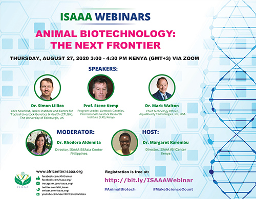 ISAAA presents a live webinar on animal biotechnology
