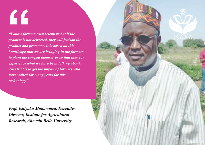 Prof. Ishiyaku Mohammed, Executive Director, Institute for Agricultural Research, Ahmadu Bello University