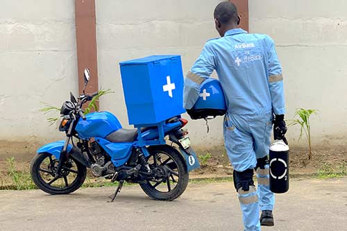 An entrepreneur pioneers AirBank, a last mile medical oxygen delivery product in Nigeria