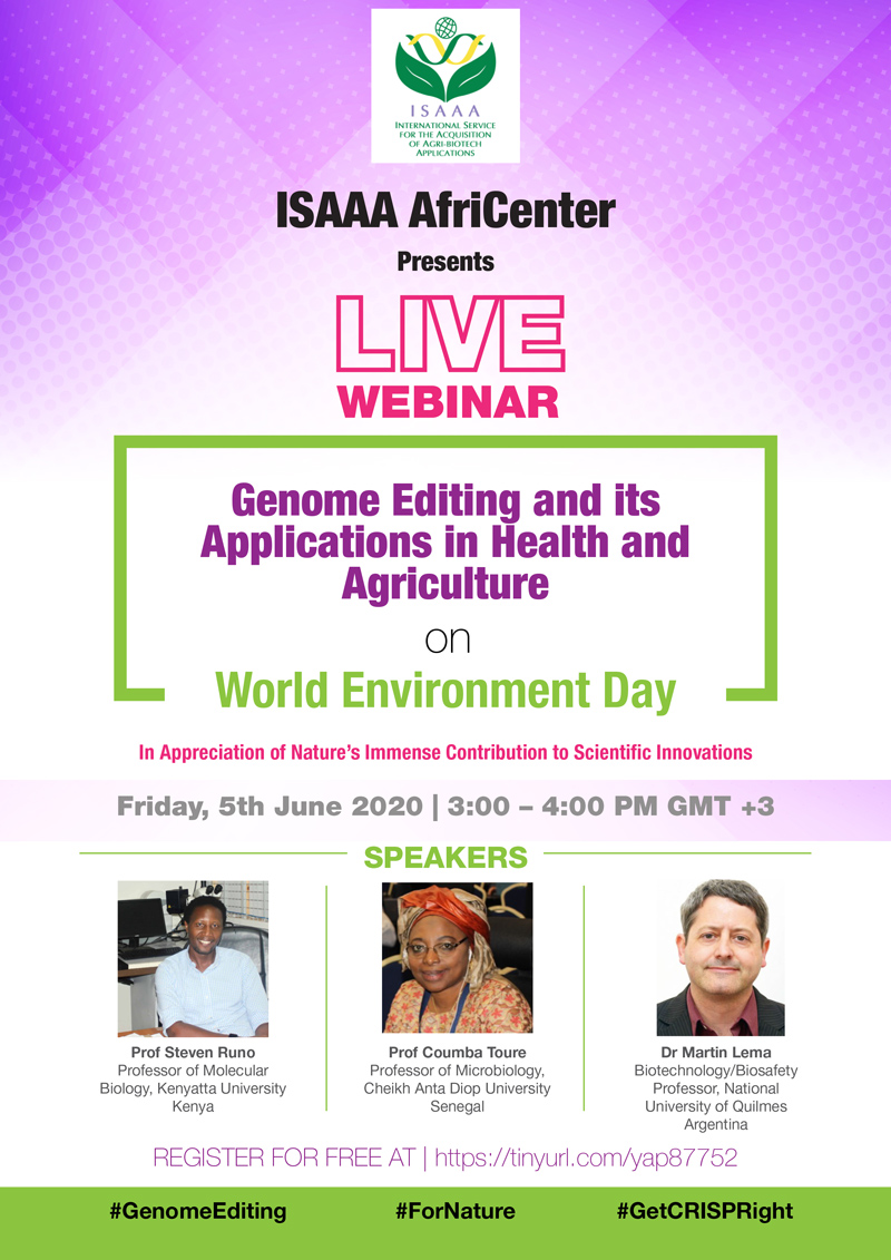 Live Webinar On Genome Editing and it's Applications in Health and Agriculture