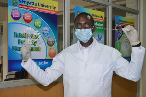 Kenyan university student uses 3D printers to make nasal swabs for COVID-19 testing