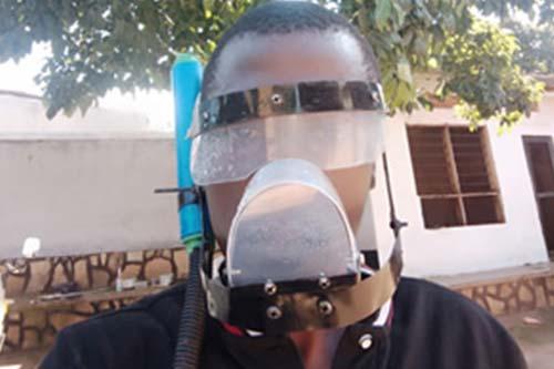 A technology hub in Uganda develops self-sanitizing face masks