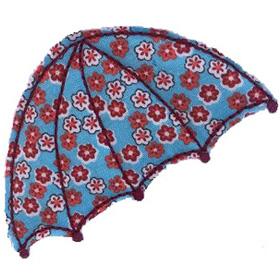 raw edge applique umbrella