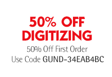 50% off first order of digitizing use code GUND-34EAB4BC