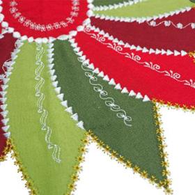 decorative stitch applique flower