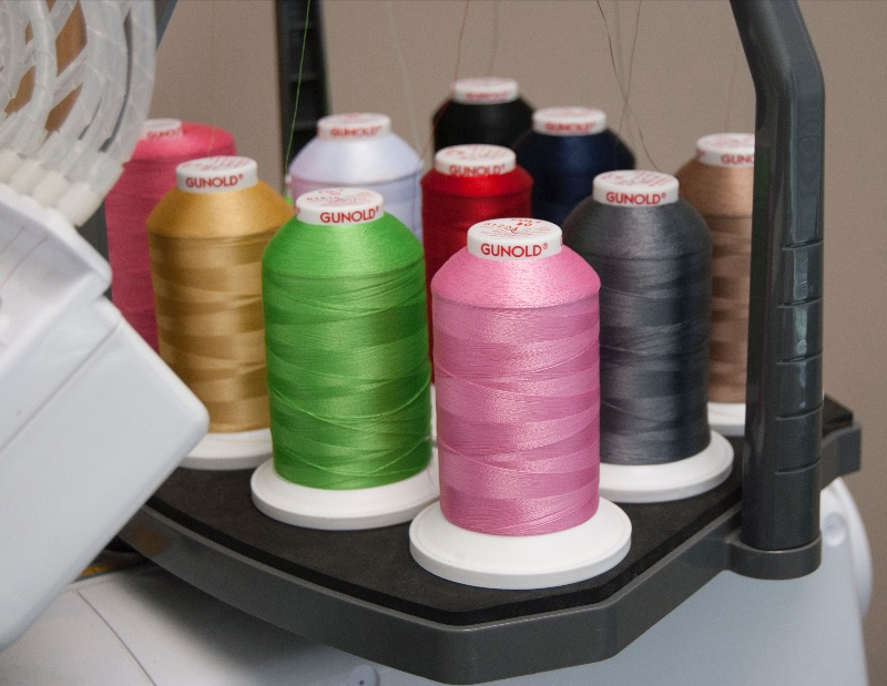 thread on embroidery machine