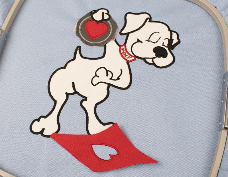 applique dog