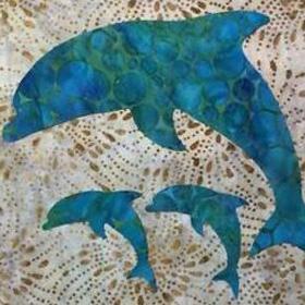 fused applique dolphin