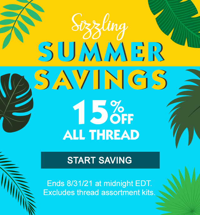 15% off all thread