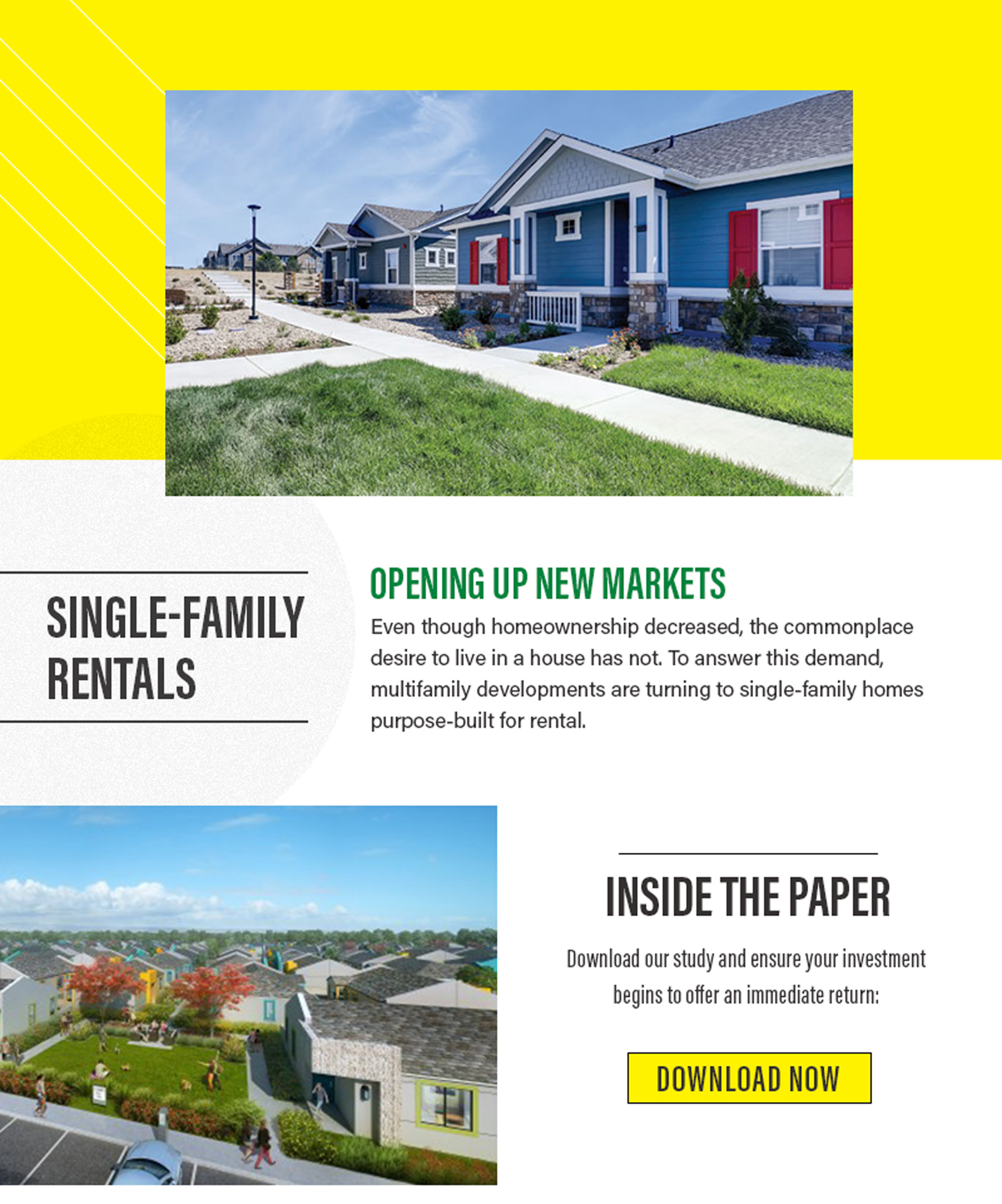 Single-Family Rentals are opening up new markets. Download the paper now.