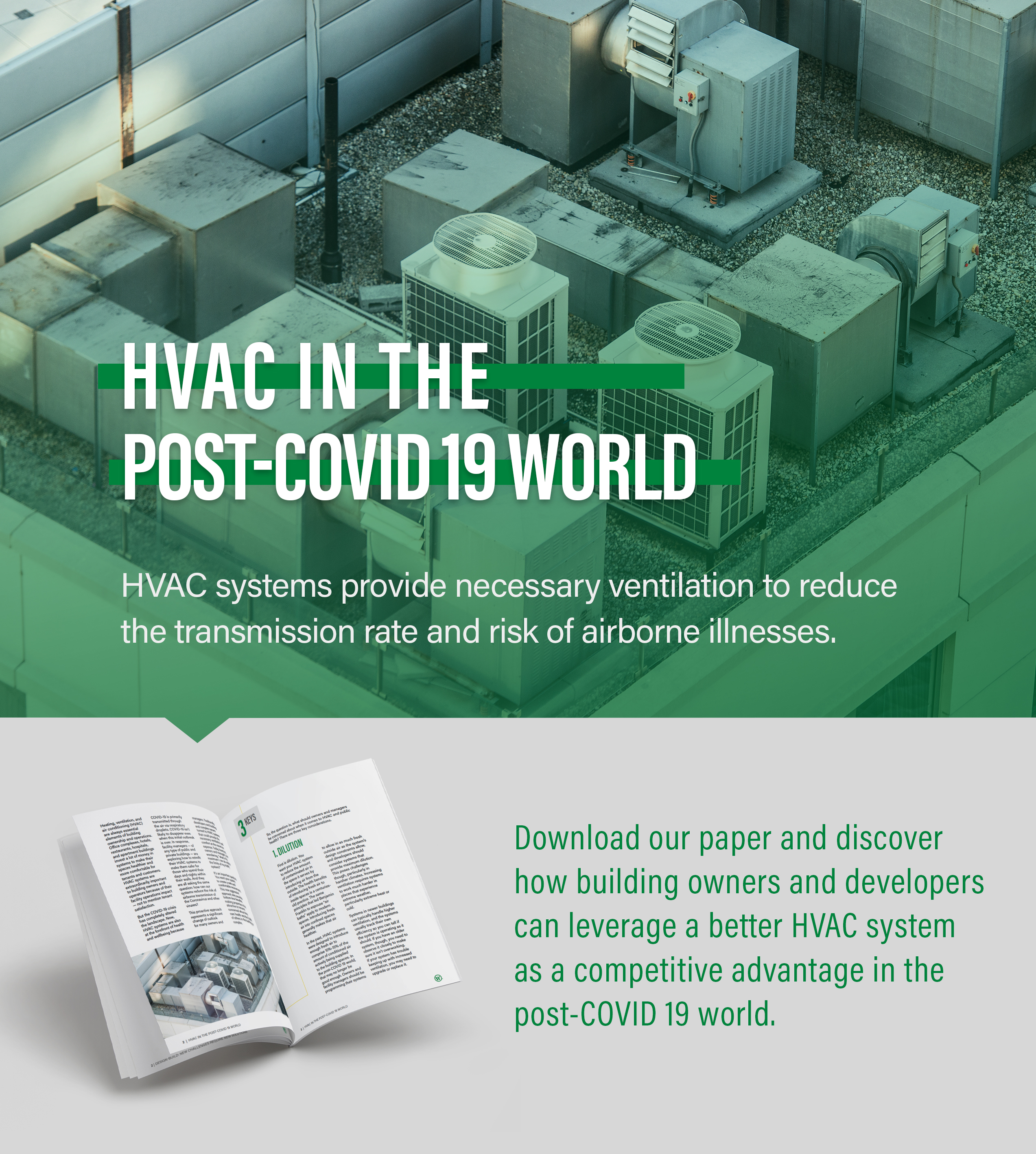 HVAC in the post-COVID 19 world. Download our paper.