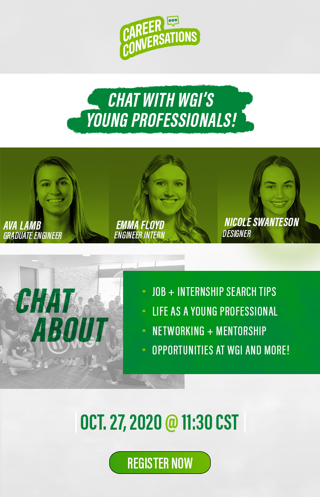 Career Conversations. Chat with WGI's Young Professionals!