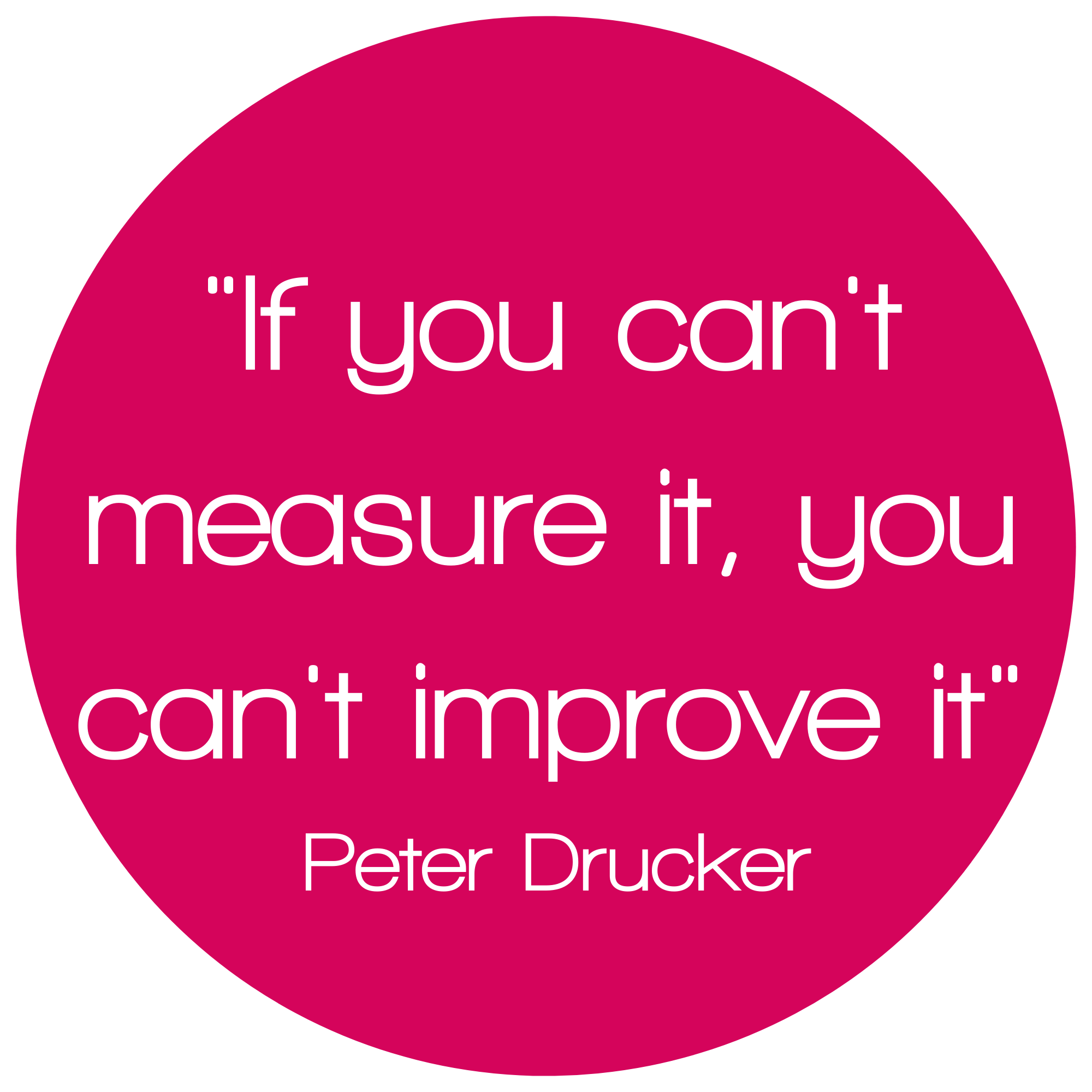If you can't measure it, you can't improve it