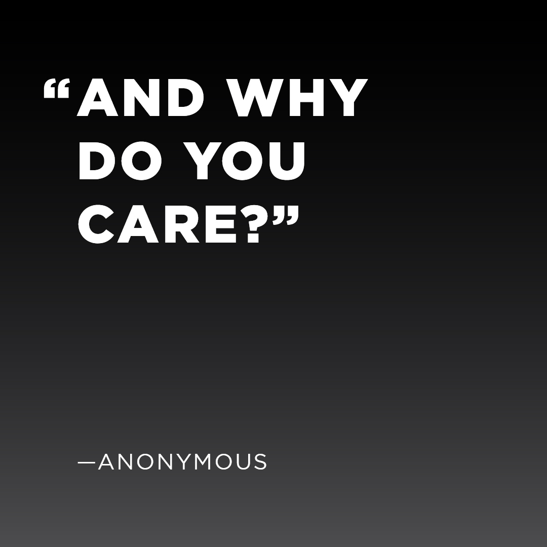 Are You Caring More Than You Care?