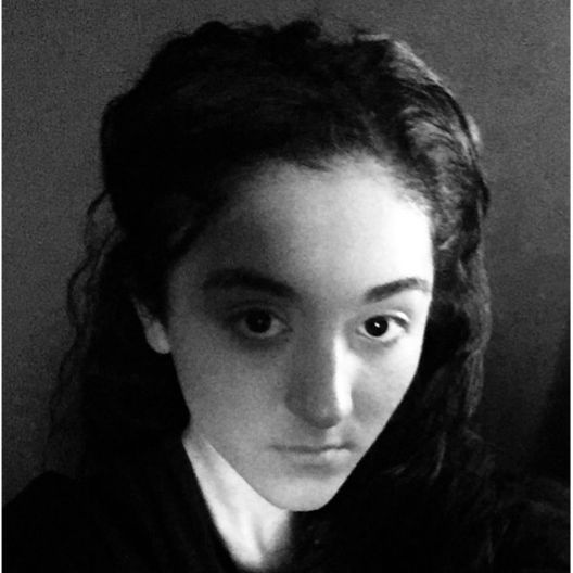 A black and white photograph of Shania Selvendran