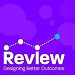 REVIEW front cover bright purple and says REVIEW DESIGNING BETTER OUTCOMES
