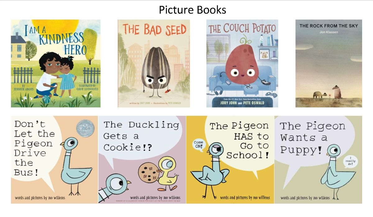 Book Covers for Picture Books Ordered April 2021