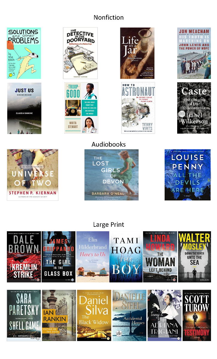 Nonfiction, Audiobooks, and Large Print Books Ordered August 2020