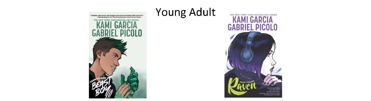 Book Covers for Young Adult Books Ordered April 2021