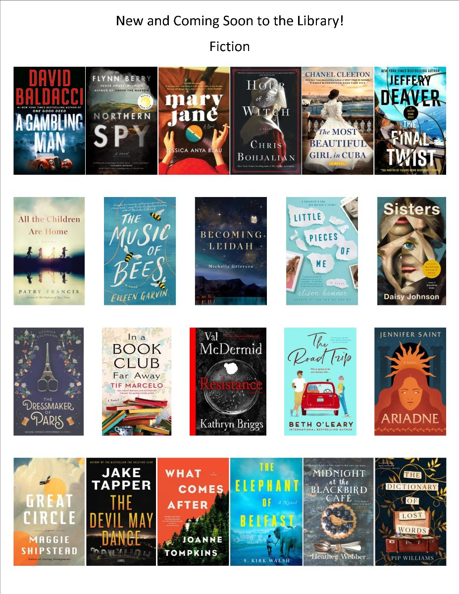 Book Covers of Fiction Books Ordered April 2021