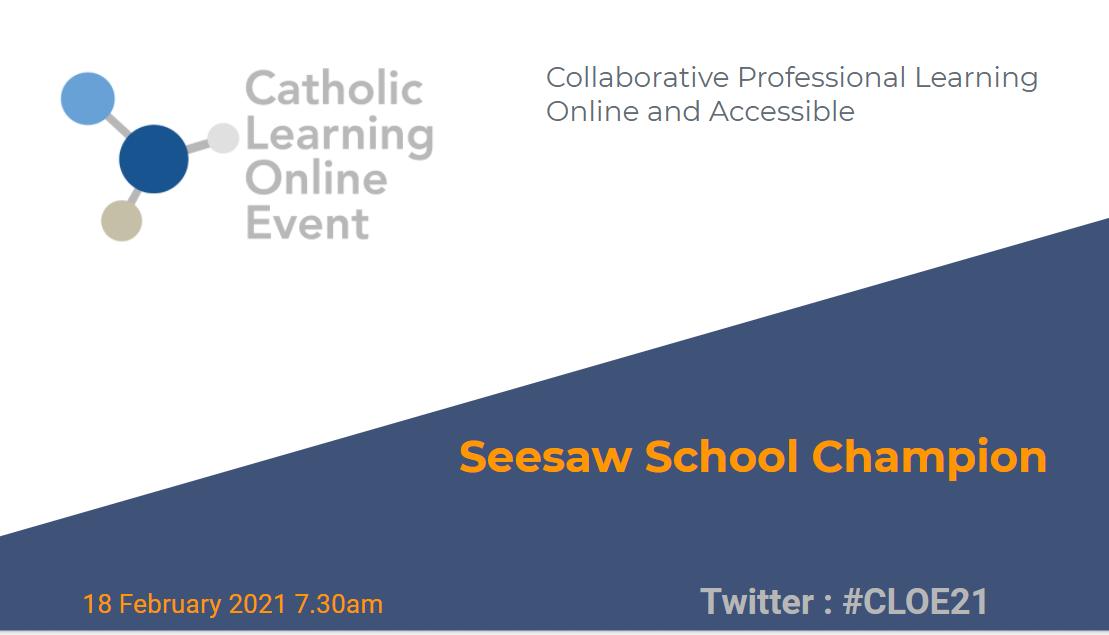 Seesaw School Champions graphic