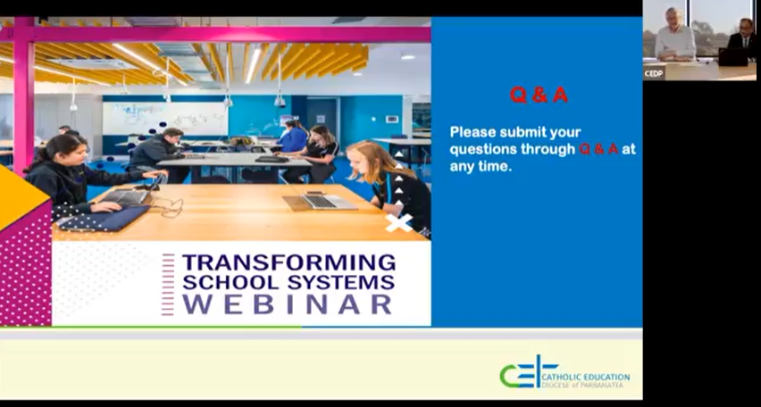 Image of the CEDP Transforming School Systems webinar