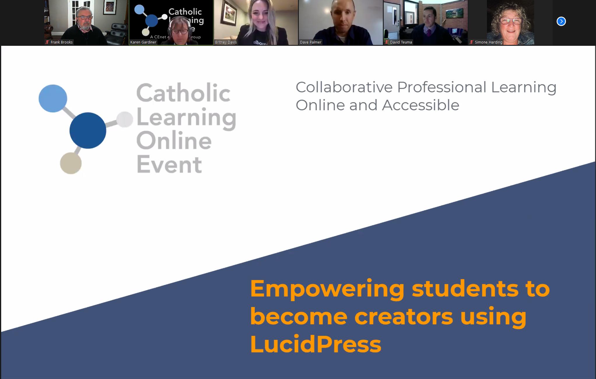 Catholic Learning Online Screen