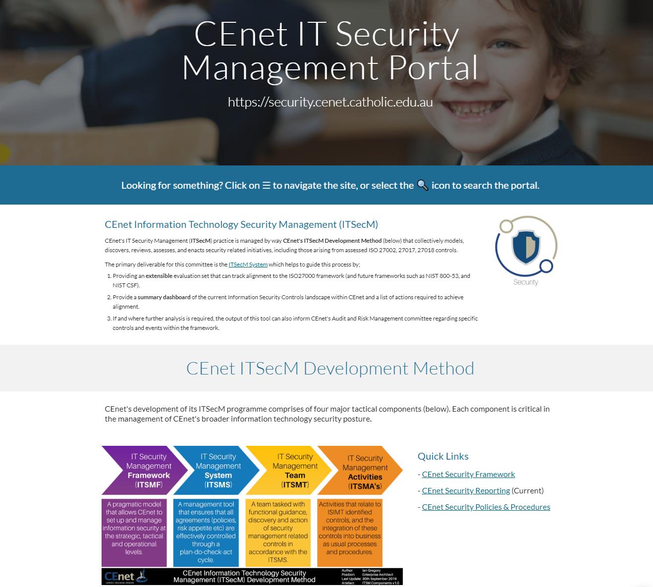 CEnet IT Security Management Portal