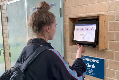 Compass Kiosk at Magdalene College