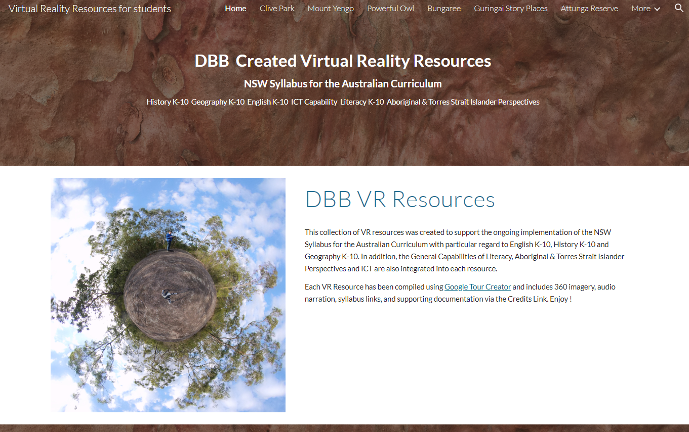 Link to Diocese of Broken Bay Virtual Reality Resources