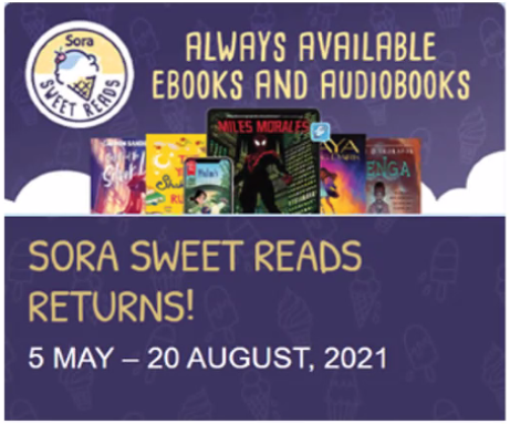 Sora Sweet Reads Returns 5 May - 20 August 2021