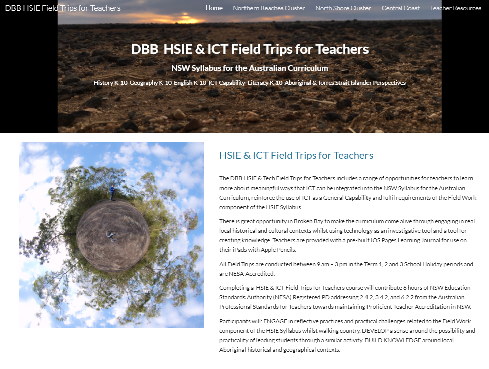 Diocese of Broken Bay HSIE and ICT Field Trip Resource website image
