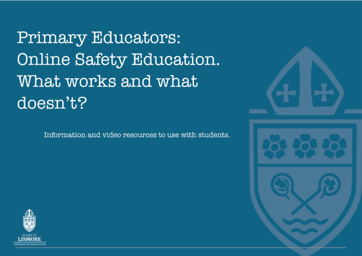 Lismore Diocese online safety eBook for primary school teachers