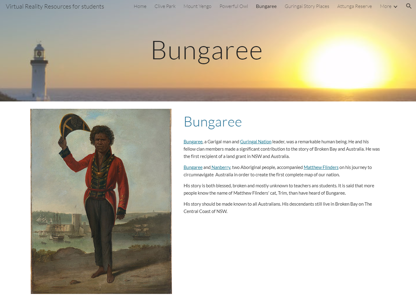 Image from the Bungaree Virtual Reality Resource