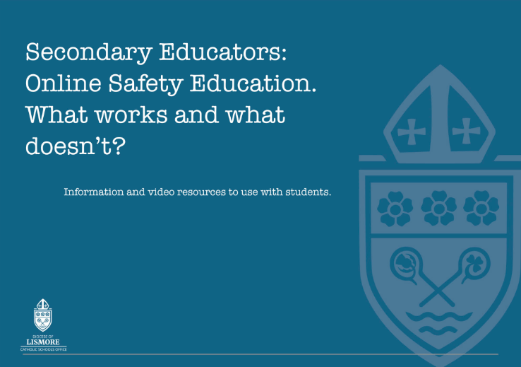 Lismore Diocese online safety eBook for secondary school teachers
