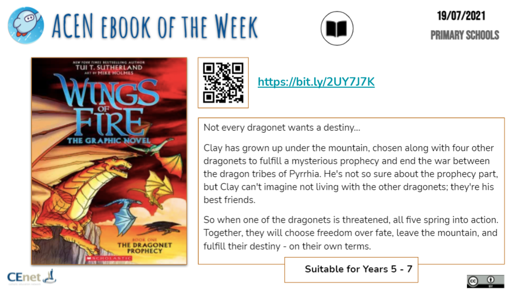 Book of the Week image - Primary Students