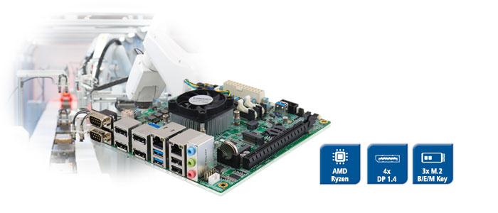 MI989F - Mini-ITX Board with AMD Ryzen CPU