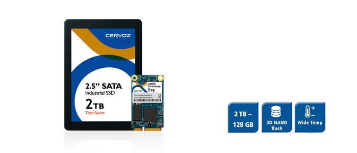 """T376-Serie - Industrielle 2.5"""" SATA und mSATA SSD"""